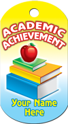 Academic Achievement Brag Tag - Apple and Books