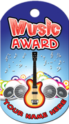 Music Award Brag Tag - Guitar