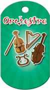Orchestra Instruments Brag Tag