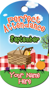 Perfect Attendance - September Brag Tag - Picnic