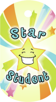 Star Student Brag Tag - Yellow Star