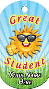 Great Student Brag Tag - Sunshine