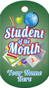 Student of the Month Brag Tag -School supplies