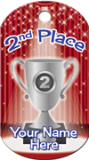 2nd Place Brag Tag - Silver Cup