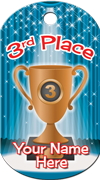 3rd Place Brag Tag - Bronze cup