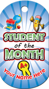 Student of the Month Brag Tag - Pencil