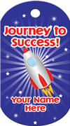 Journey to Success Brag Tag - Rocket