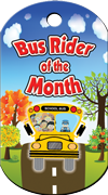 Bus Rider of the Month Brag Tag