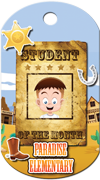 Student of the Month 2 Brag Tag