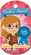 Teacher's Award Brag Tag