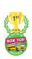 Box Top 1st Place Winner Brag Tag