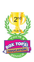 Box Top 2nd Place Brag Tag