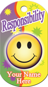 Responsibility Brag Tag - smiley face
