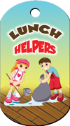 Lunch Helpers Brag Tag