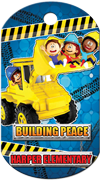 Building Peace Brag Tag