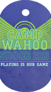 Summer Camp Wahoo Tag