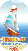 Columbus sailed the ocean floor Brag Tag - Sailboat