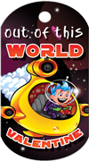 Out of this World Valentine Brag Tag - submarine