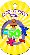 Accelerated Math 50 Points Brag Tag