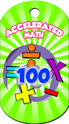 Accelerated Math 100 Points Brag Tag