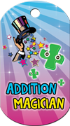Addition Magician Brag Tag