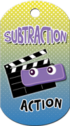 Subtraction Action Brag Tag