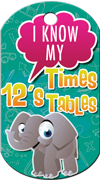 12's Times Tables Brag Tag